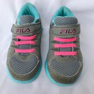 Fila Velcro Shoes 8 Toddler